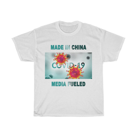 Covid-19 Made In China Media Fueled - Unisex Heavy Cotton Tee