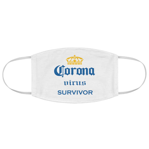 Corona Virus Survivor White Fabric Face Mask