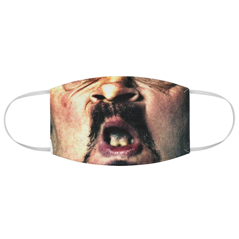 Beat Up Man Face Bad Teeth Horror Halloween Fabric Face Mask