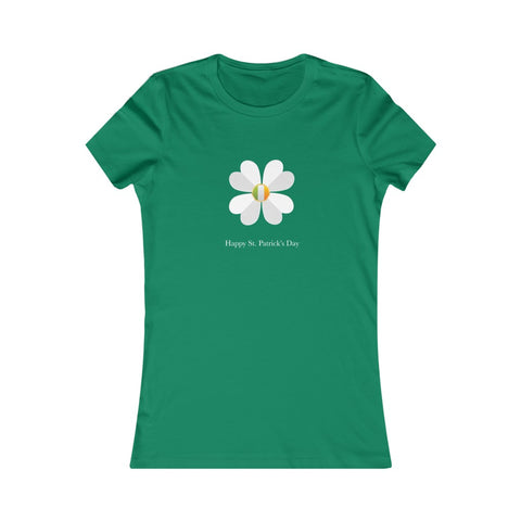 Happy St Patrick's Day Shamrock Flag Women's Favorite Tee