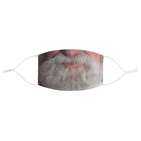 Santa Clause Father Christmas Xmas White Beard Fabric Face Mask