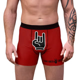 Take Back The Horns Heavy Metal Red Men's Boxer Briefs