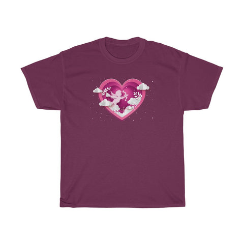 Cupid Bow & Arrow Wings Heart Valentine's Day Unisex Heavy Cotton Tee
