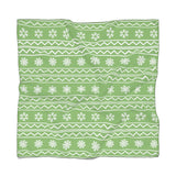 Christmas Snowflake Xmas Wrapping Paper Green Poly Scarf