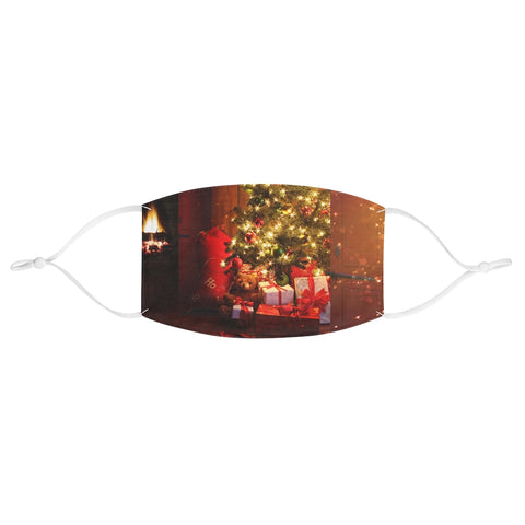 Christmas Tree Gift Present Scene Xmas Fabric Face Mask