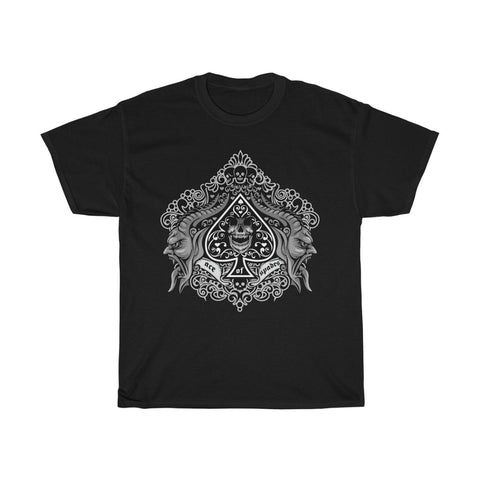 Ace of Spades Skull Gargoyle Unisex Heavy Cotton Tee
