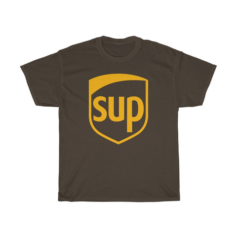 SUP Parody of UPS United Parcel Service Unisex Heavy Cotton Tee