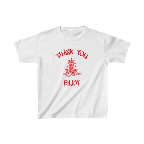 Chinese Food Container Pagoda Thank You Enjoy Kids Heavy Cotton™ Tee