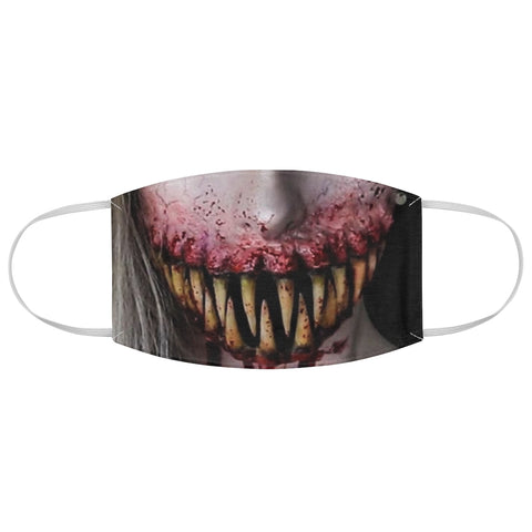 Giant Scary Teeth Fangs Girl Woman Horror Halloween Fabric Face Mask