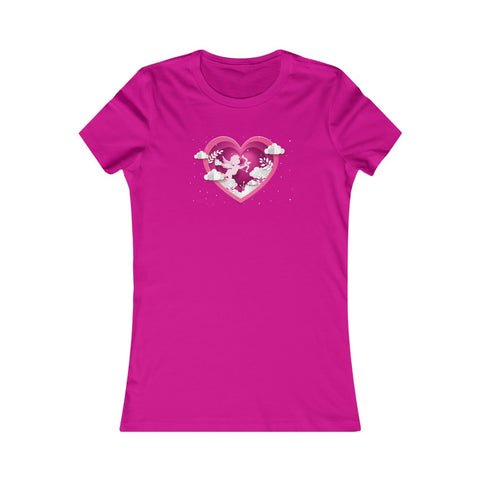 Cupid Bow & Arrow Wings Heart Clouds Valentine's Day Women's Favorite Tee