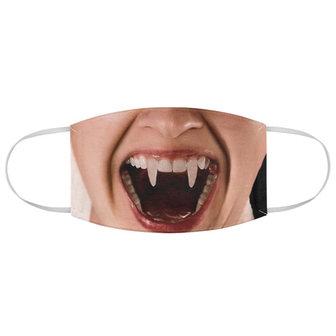 Vampire Woman Fangs Dracula Horror Halloween Fabric Face Mask