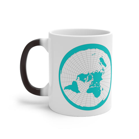 FLAT EARTH MAP - THE EARTH IS FLAT - Color Changing Mug