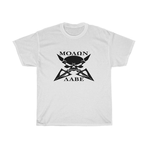 Molon Labe Skull Arrow Blade Patriot Unisex Heavy Cotton Tee