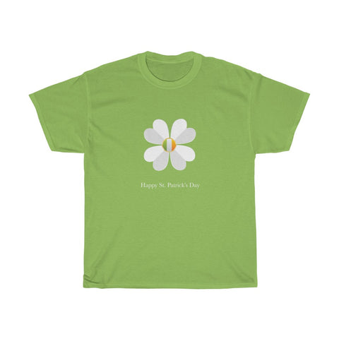 Happy St Patrick's Day Shamrock Flag Unisex Heavy Cotton Tee