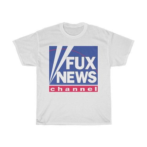 FUX NEWS CHANNEL Fox News Parody Unisex Heavy Cotton Tee