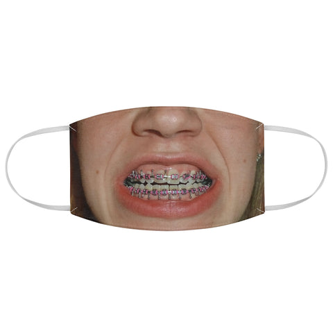Brace Face Girl Halloween Pink Rubber Bands Braces Fabric Face Mask