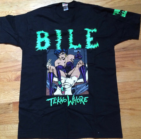 BILE - Teknowhore Glow In The Dark Print T-Shirt