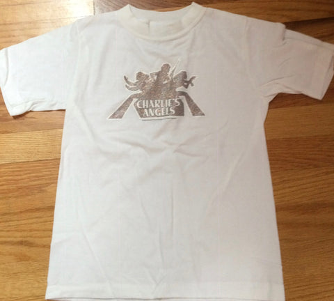 Charlie's Angels - White Silver Logo Youth T-Shirt