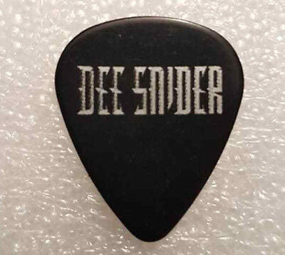 Dee Snider - Black Guitar Pick