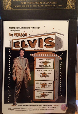 Elvis - Honolulu Benefit Metal Print Poster