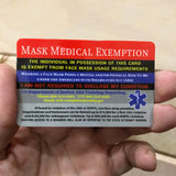 Medical Mask Exemption Card
