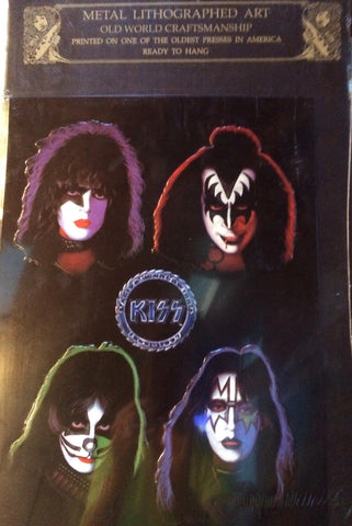 KISS - Four Faces Metal Print Poster