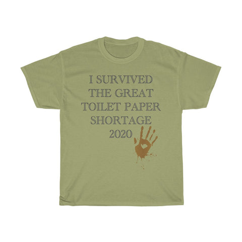 I Survived Toilet Paper Shortage Hand Print - Unisex Heavy Cotton Tee