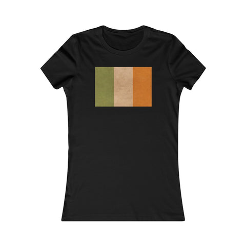 Grunge Irish Flag Ireland St Patrick's Day Women's Favorite Tee