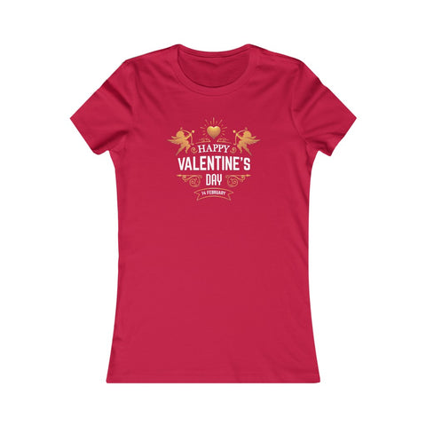 Happy Valentine's Day February 14 Cupid Heart Love Women's Favorite Tee