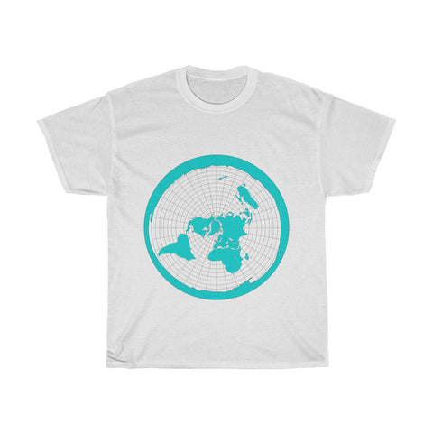 Flat Earth Map - The Earth Is Flat - Unisex Heavy Cotton Tee - Light Colors