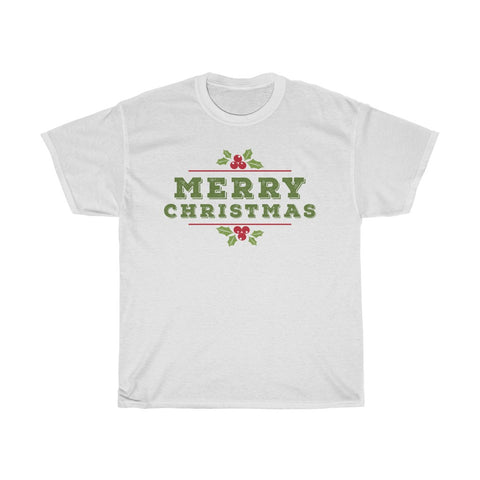 Merry Christmas Mistletoe XMAS Unisex Heavy Cotton Tee