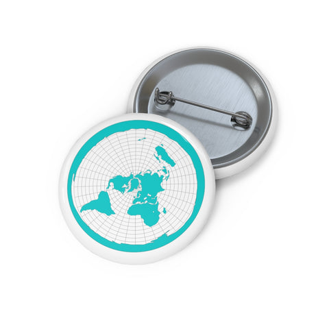 Flat Earth Pin Buttons