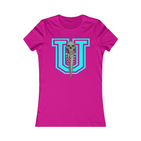 SKREW U Skull Logo Screw Vertebrae University Women's Favorite Tee