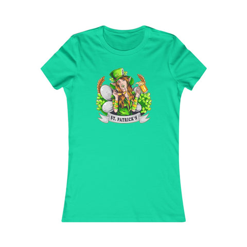 St Patrick's Day Leprechaun Fairy Hot Chick Woman Women's Favorite Tee