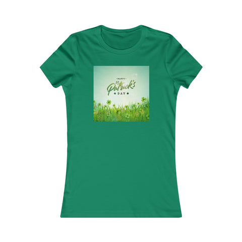 Field of Shamrocks Happy St Patrick's Day Irish Women's Favorite Tee