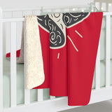 Merry Christmas Bells Xmas Red Sherpa Fleece Blanket