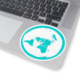 Flat Earth Map Kiss-Cut Stickers
