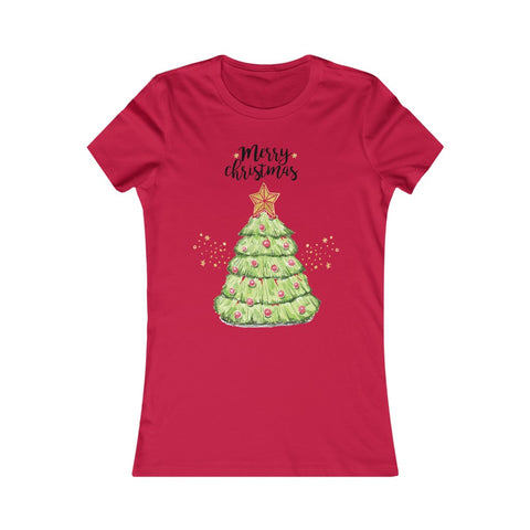 Merry Christmas Tree XMAS Women's Favorite Tee