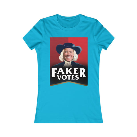 Faker Votes - Quaker Oats Joe Biden Parody Women's Favorite Tee