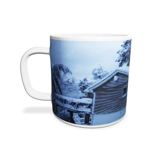 Winter Home in The Poconos Mugs