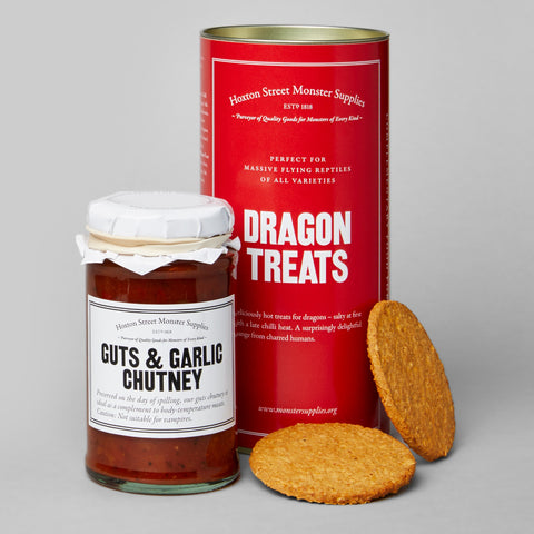 Guts and Garlic Chutney with Dragon Treats