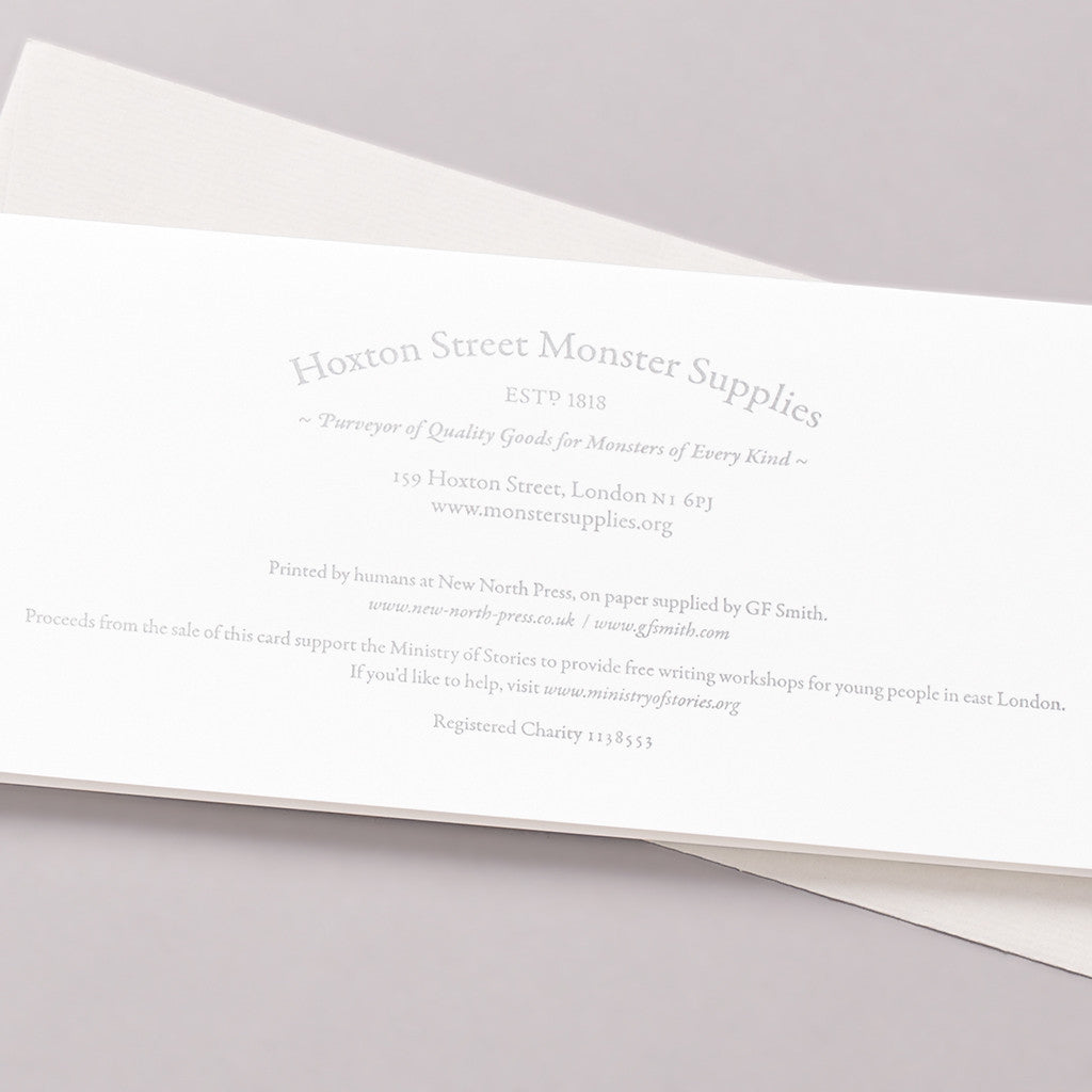Letterpress card back photo