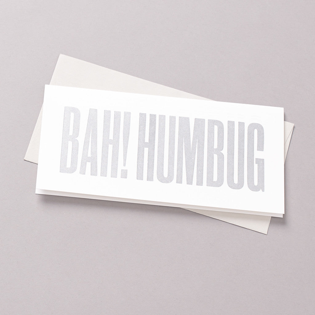 Bah! Humbug letterpress card photo