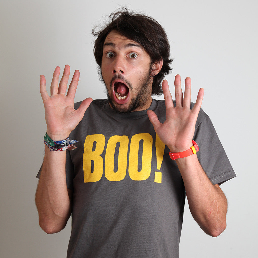 Boo! t-shirt mens model photo