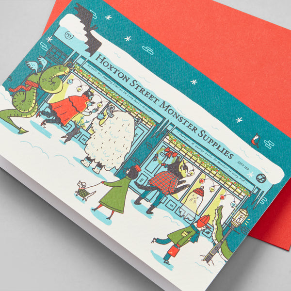 Hoxton Street Monster Supplies Holiday Card Single