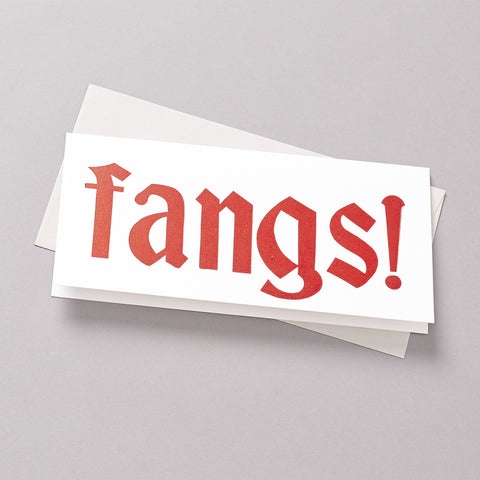 Fangs letterpress card photo