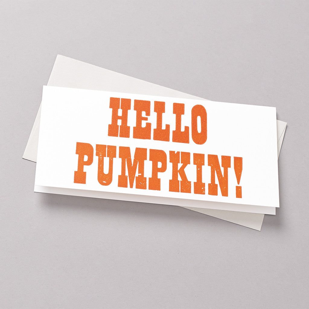 Hello pumpkin letterpress card photo
