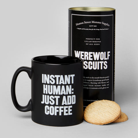 Instant Human Mug with Werewolf Biscuits