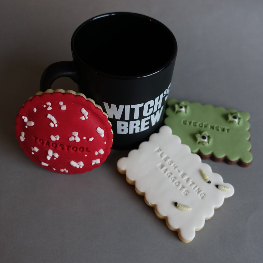 Cauldron Biscuit Triple and Witch's Brew Mug