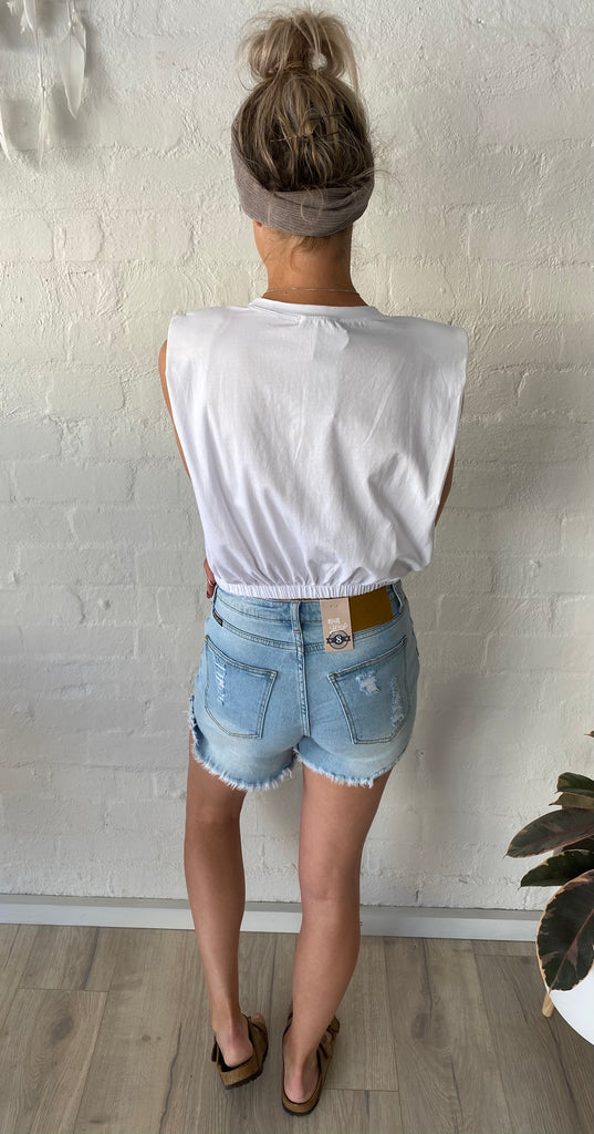 Refuge High Waisted Denim Shorts